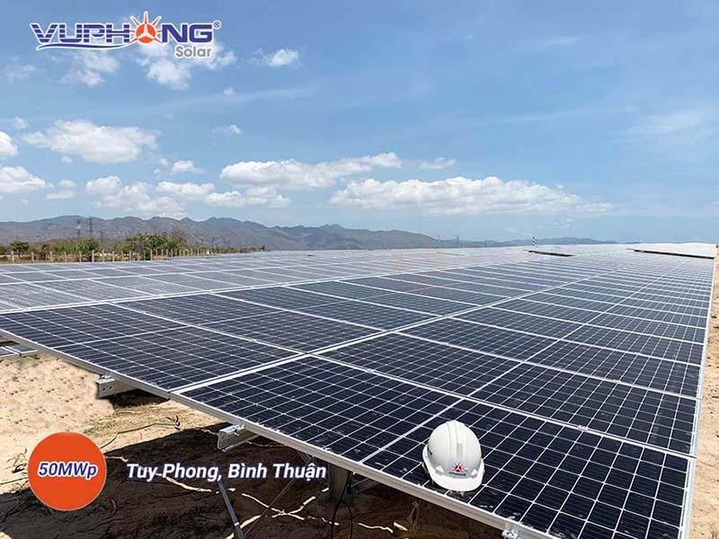 Nhà máy điện mặt trời Vĩnh Hảo tại Tuy Phong, Bình Thuận do Vũ Phong Solar thi công